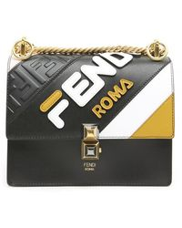 Fendi - Kan Roma Mania Small Shoulder Bag - Lyst