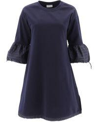 Moncler - Flare Sleeve Dress - Lyst