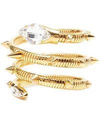 Giuseppe Zanotti - Crystal Embellished Snake Cuff - Lyst