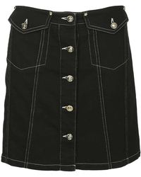 Versace Jeans - Button-front Skirt - Lyst