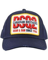 a6da4c6ee0f101 DSquared² Canadian Flag Baseball Cap in Black for Men - Lyst