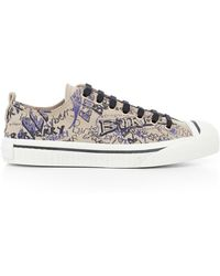 Burberry - Doodle Lace-up Sneakers - Lyst