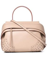 18379495cac Tod's Wave Leather Tote Bag in Brown - Lyst