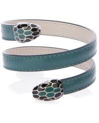 BVLGARI Serpenti Forever Leather Bracelet
