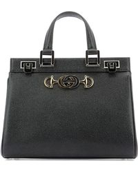 f8e921867c6 Lyst - Gucci Bree Ssima Leather Tote in Black