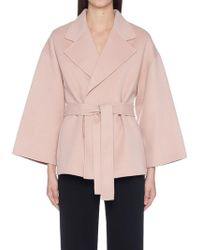 Theory - Belted Short Jacket - Lyst