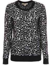 MICHAEL Michael Kors - Leopard Print Pullover - Lyst
