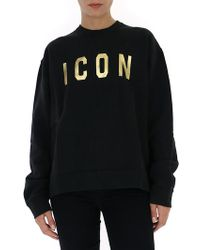 DSquared² - Icon Print Crewneck Sweatshirt - Lyst