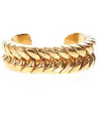 Céline - Braided Effect Bracelet - Lyst
