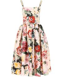 0646c42d Dolce & Gabbana Lemon Print Dress in Yellow - Lyst