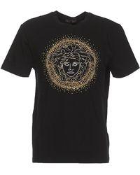 Versace - Medusa Studded T-shirt - Lyst