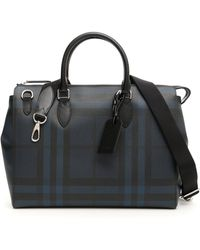 Burberry - Large London Check Briefcase - Lyst