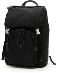 Prada - Front Pocket Backpack - Lyst