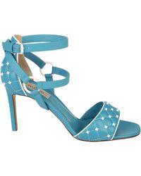 Valentino - Garavani Rockstud Quilted Sandals - Lyst
