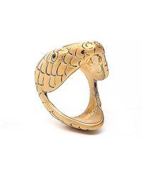 Saint Laurent - Serpent Head Ring - Lyst