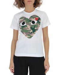 COMME DES GARÇONS PLAY - Camouflage Heart T-shirt - Lyst