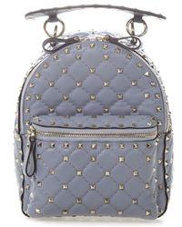 59eee11f4f Valentino - Garavani Rockstud Quilted Backpack - Lyst