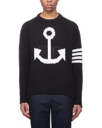 Thom Browne - Anchor Icon Pullover - Lyst