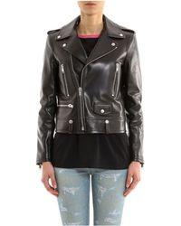 Saint Laurent - Leather Biker Jacket - Lyst