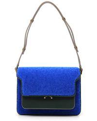 Marni - Shearling Leather Shoulder Bag - Lyst