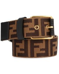 Fendi - Ff Logo Embossed Belt - Lyst