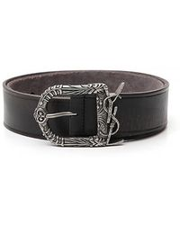 Saint Laurent - Monogram Celtic Buckle Belt - Lyst