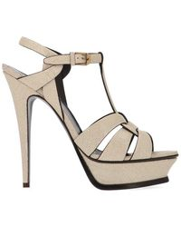 Saint Laurent - Tribute Heeled Sandals - Lyst