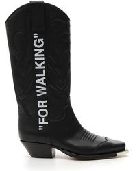 Off-White c/o Virgil Abloh - Printed Cowboy Boots - Lyst