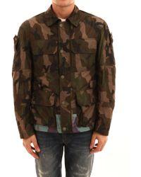 1f3e4e8b0f2da Valentino Mariposa Camouflage Print Jacket in Green for Men - Lyst