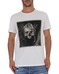 8c245ad0 Alexander Mcqueen Skull Motif Tshirt in White for Men - Lyst