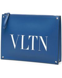 6ae1c4c0035 Valentino Rockstud Laptop Bag in Blue for Men - Lyst