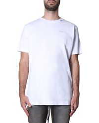 Off-White c/o Virgil Abloh - Unfinished Logo Print T-shirt - Lyst