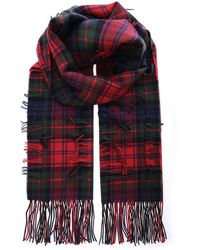 Burberry - Fringed House Check Scarf - Lyst