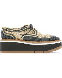 Robert Clergerie - Woven Platform Lace-up Shoes - Lyst