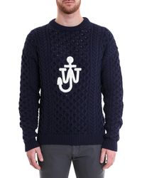 JW Anderson - Logo Cableknit Sweater - Lyst