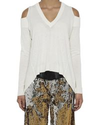 Nude - Cut Out Shoulder Top - Lyst