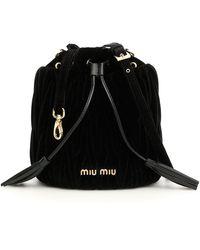 Miu Miu - Matelassé Bucket Bag - Lyst