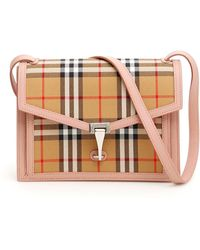 783c6095df1 Burberry Medium Horseferry Check And Leather Cross-Body Bag in Brown ...