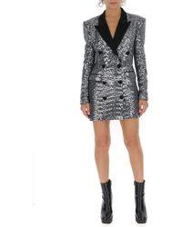 Amen - Sequined Blazer Dress - Lyst
