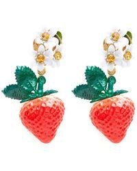 Dolce & Gabbana - Strawberry Earrings - Lyst