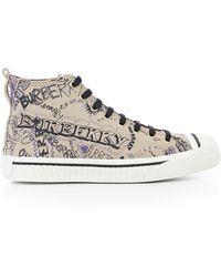 Burberry - Doodle Hi-top Sneakers - Lyst
