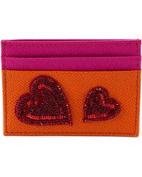 Dolce & Gabbana - Sequin Heart Leather Cardholder - Lyst