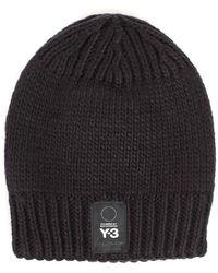 Y-3 - Logo Knitted Beanie - Lyst