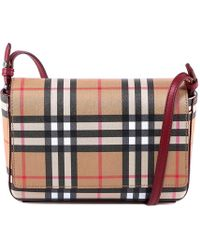 Burberry - Checked Crossbody Bag - Lyst