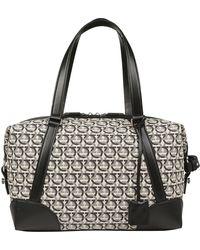 0546dc7656 Ferragamo - All Over Logo Print Tote Bag - Lyst