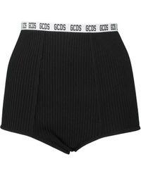 Gcds - Fine Rib Logo Waistband Shorts - Lyst