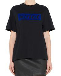 Alexander Wang - Printed Oversized T-shirt - Lyst