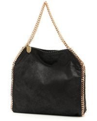 fc919c960039 Stella Mccartney Falabella Faux-suede Tote Bag in Black - Lyst