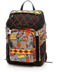 7891cfb493dc Lyst - Prada Quilted Backpack in Black for Men