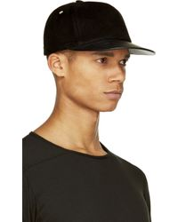 DRKSHDW by Rick Owens Leather and Velvet Baseball Cap - Lyst